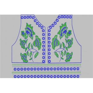 Neckline Embroidery Design 99