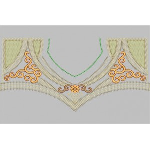 Neckline Embroidery Designs 19
