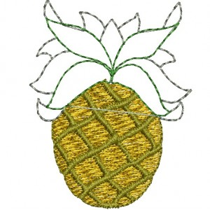 Pine Apple Embroidery Designs