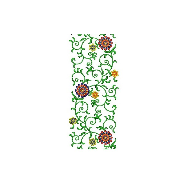 New flower jaal embroidery design