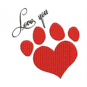 Paw embroidery designs