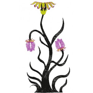 Abtract tree Embroidery Design
