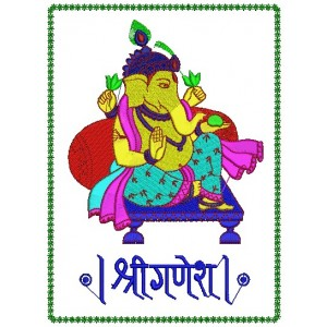 Shri Ganesh Embroidery Design 1