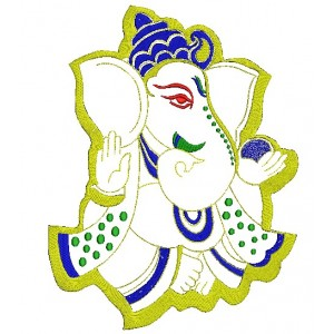 Shri Ganesh Embroidery Design 3