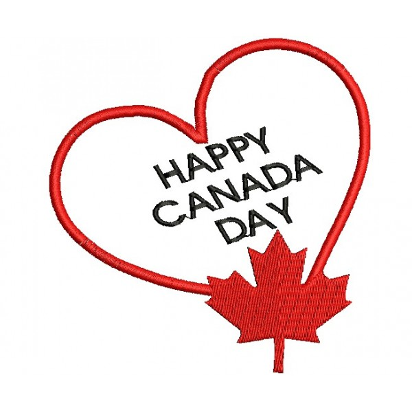Happy canada day embroidery designs