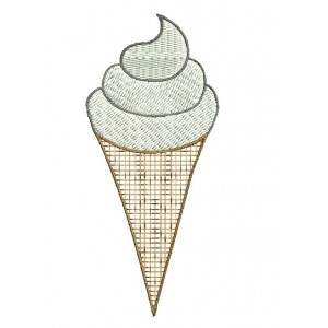 Ice cream Cone Embroidery Designs