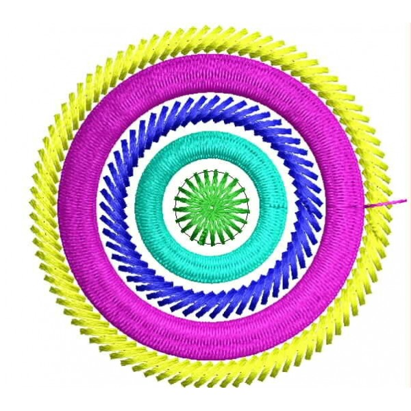 Abstract circle embroidery designs