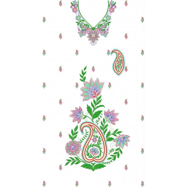 Bridal dress machine embroidery designs