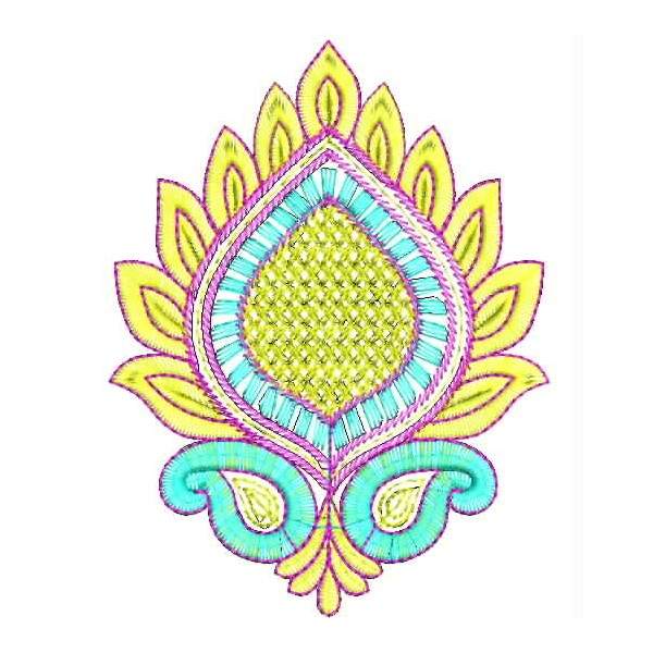 Lotus flower embroidery butta embroideryshristi