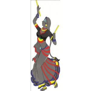 Dandiya Figurehead Clipart