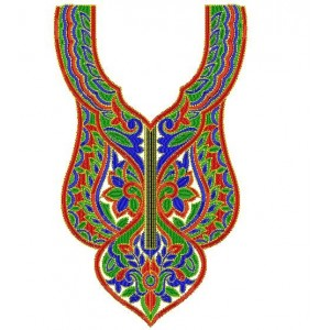 Traditional Neckline Embroidery Designs 1