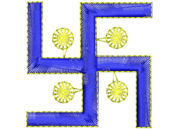 Hindu Sign Swastika Embroidery Design
