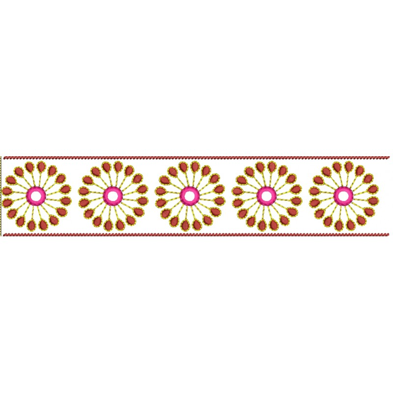 Border embroidery designs free