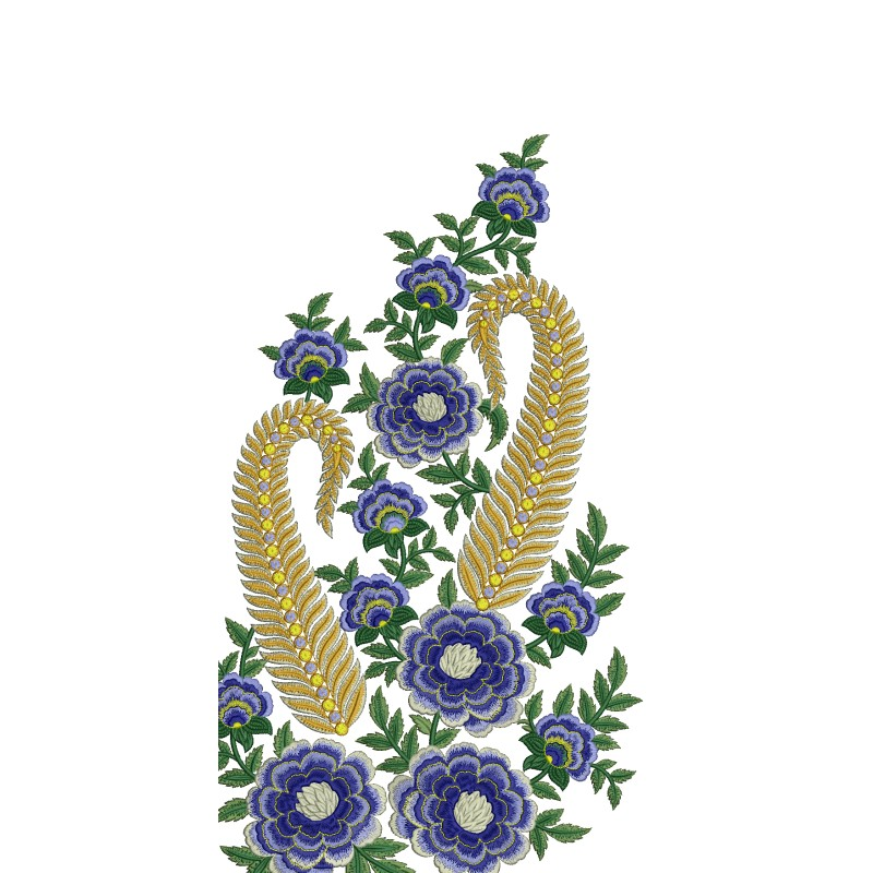 Large floral embroidery design free