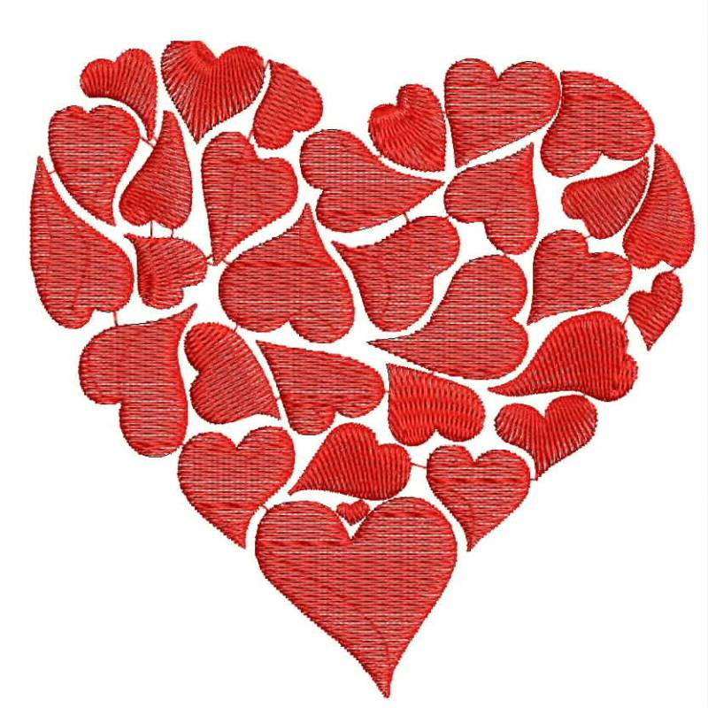 Valentine special embroidery designs love