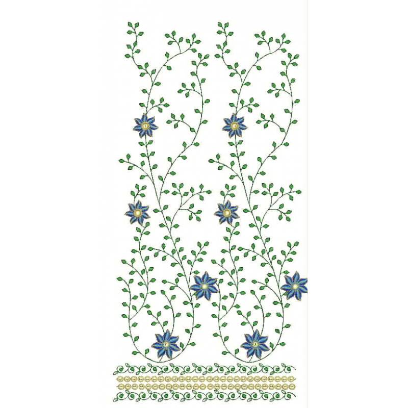 Floral embroidery design digitizing