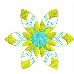 Yellow Flower Embroidery Design2