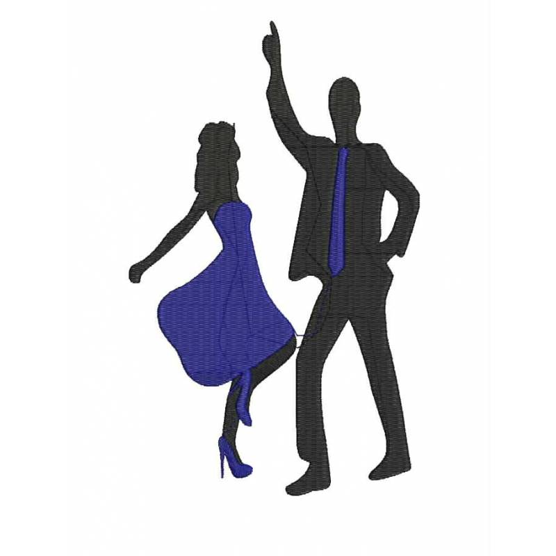 Dance Silhouette Embroidery Design