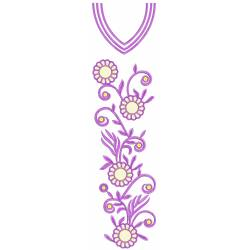 Purple Full Embroidery Dress Designs 600
