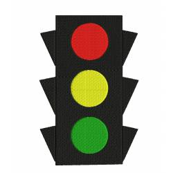 Traffic Signal Embroidery Design