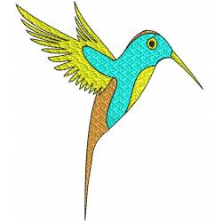 Colorline Bird Embroidery Design