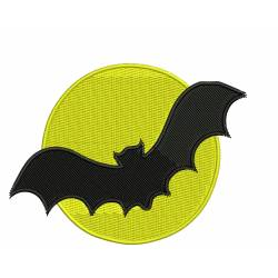 Halloween Moon and Bat Design