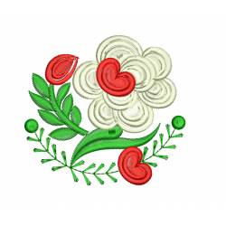 Heart Embroidery Flower Design