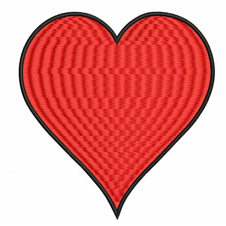 Simple Heart Embroidery Design