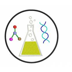 Science Lab Instrument Embroidery Design