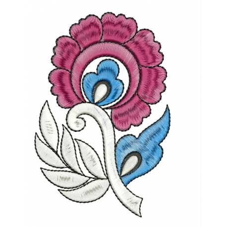 New Flower Machine Embroidery Design