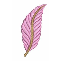 Colorful Leaf Embroidery Design