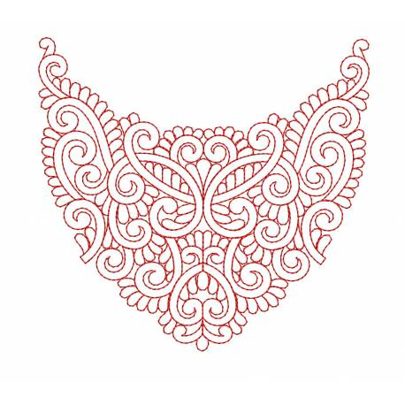Neck Embroidery Pattern Design