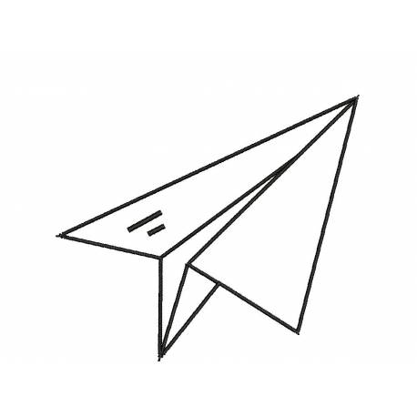 Paper Plane Kids Embroidery Design