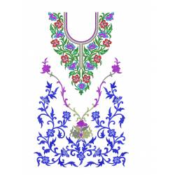 Machine Embroidery Dress Design