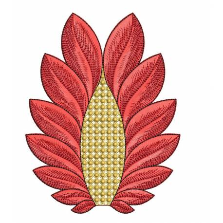 Beautiful abstract leaf 5x7 embroidery design for Embroidery office design 7 5 full