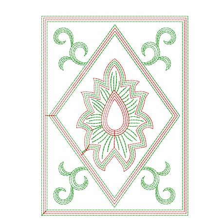Outline Embroidery Pattern Desgin