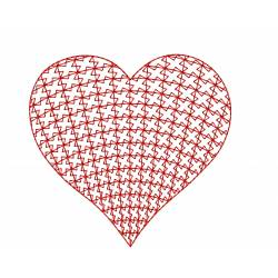 Motif Filled Heart Embroidery Design