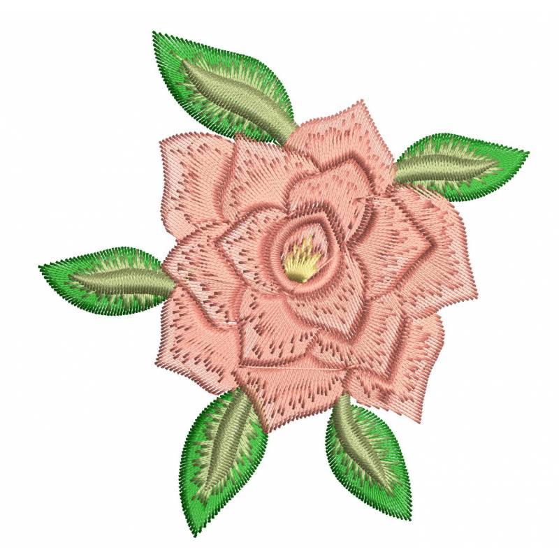 Wild Rose Flower Embroidery Design
