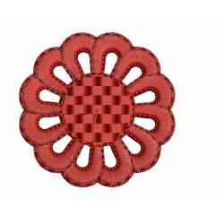 2x2 Floral Embroidery Design