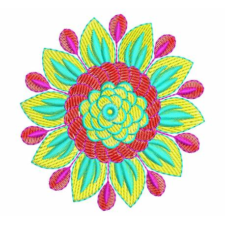 A Beautiful Flower embroidery design