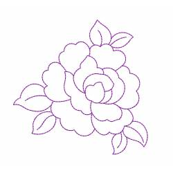 Rose Outline Embroidery Design 5x7