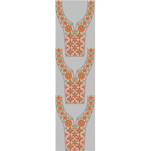 Neck line Embroidery Design 55